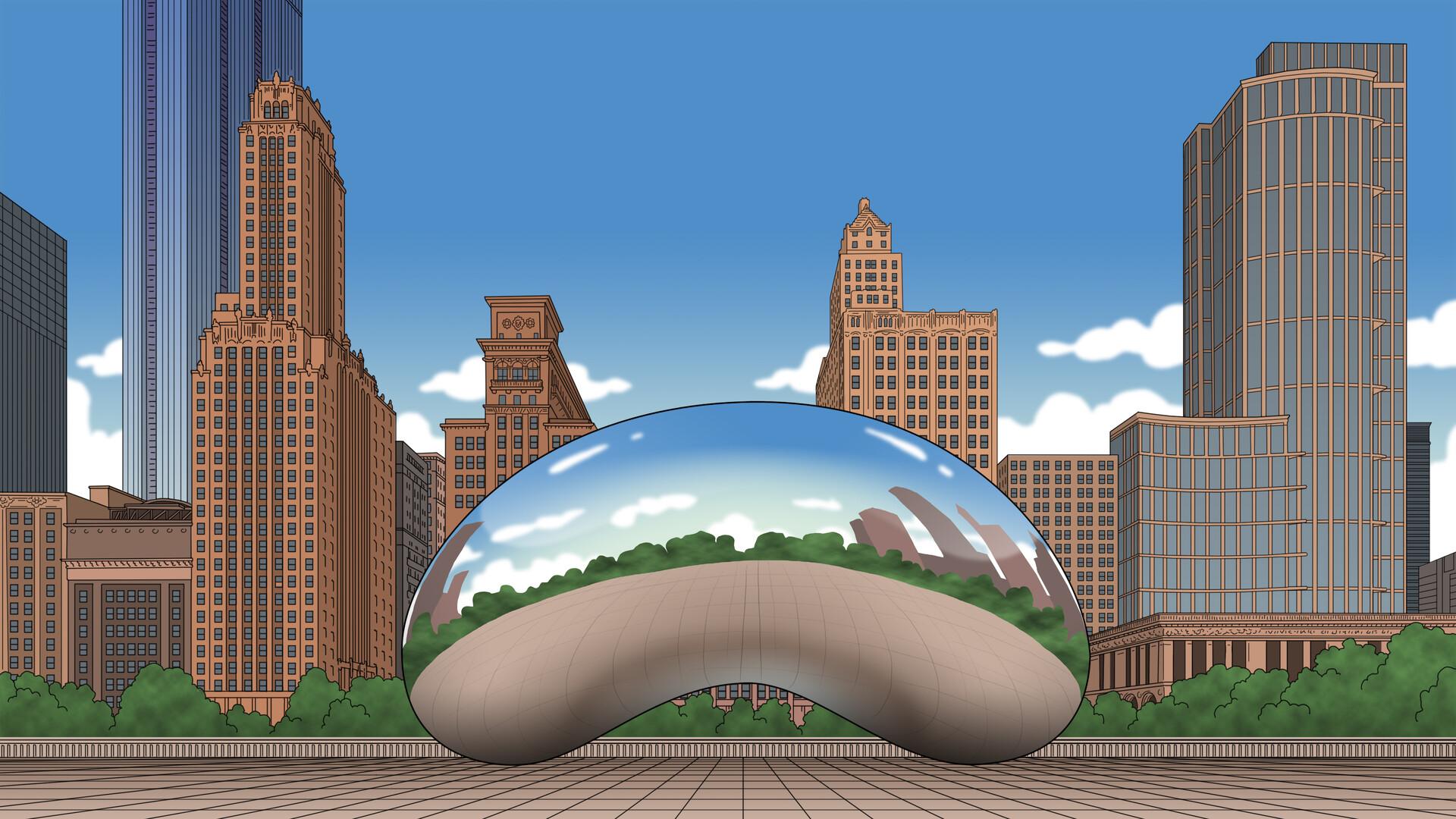 """Chicago  millenium park """"The Bean"""""""