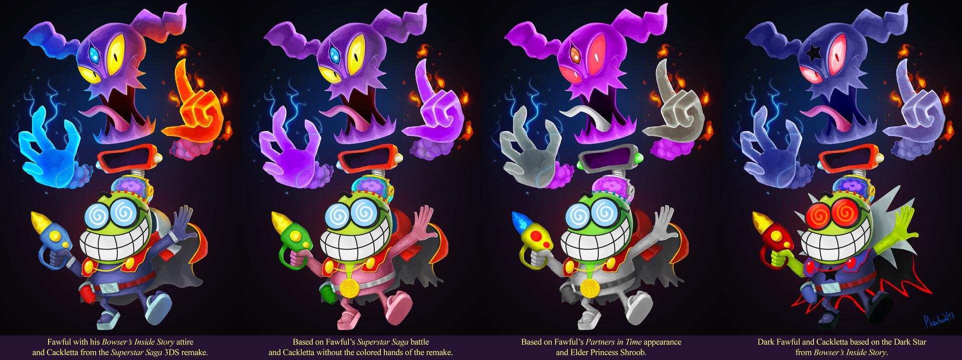 Artstation Fawful Cackletta Detailed Smash Concept