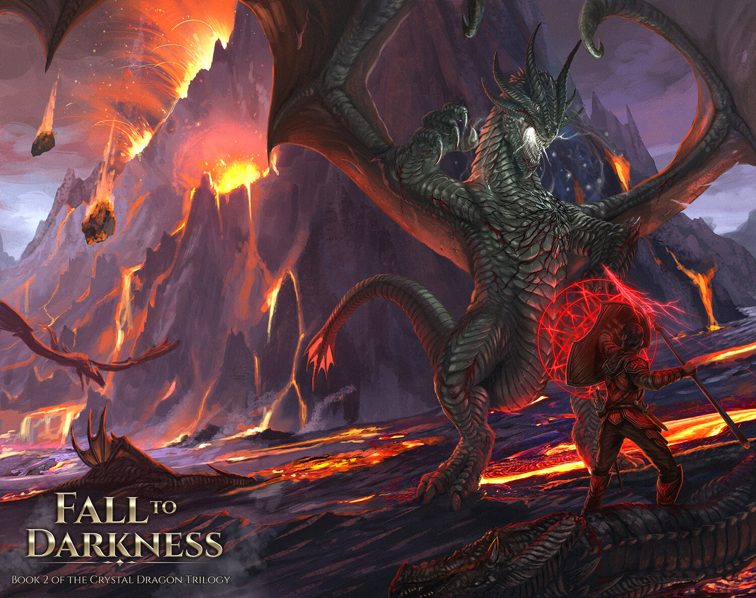 Fall To Darkness - Dragon Book Cover