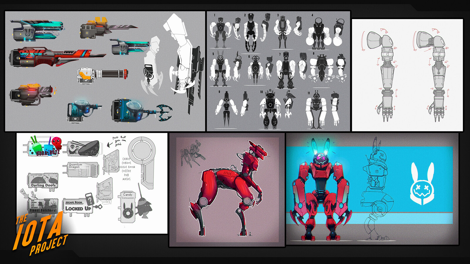 Concepts I produced when we began the initial alpha phase of the project