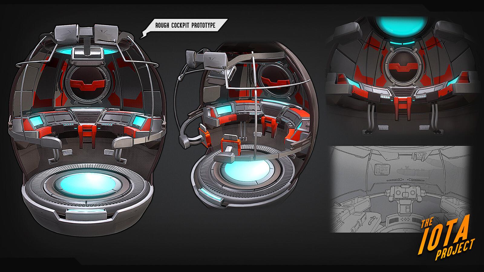Final render of the cockpit