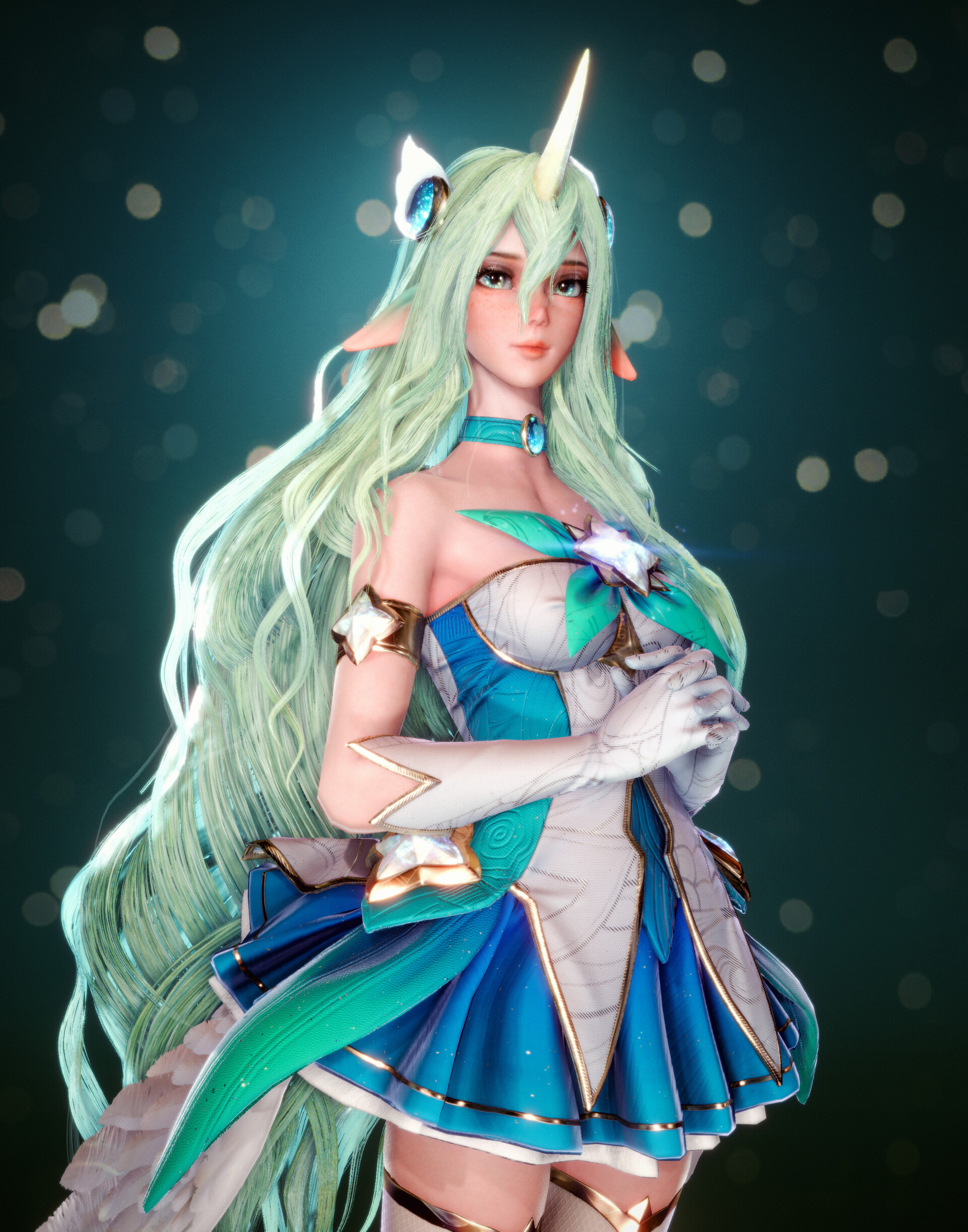 Artstation League Of Legends Star Guardian Soraka Chang Gon Shin