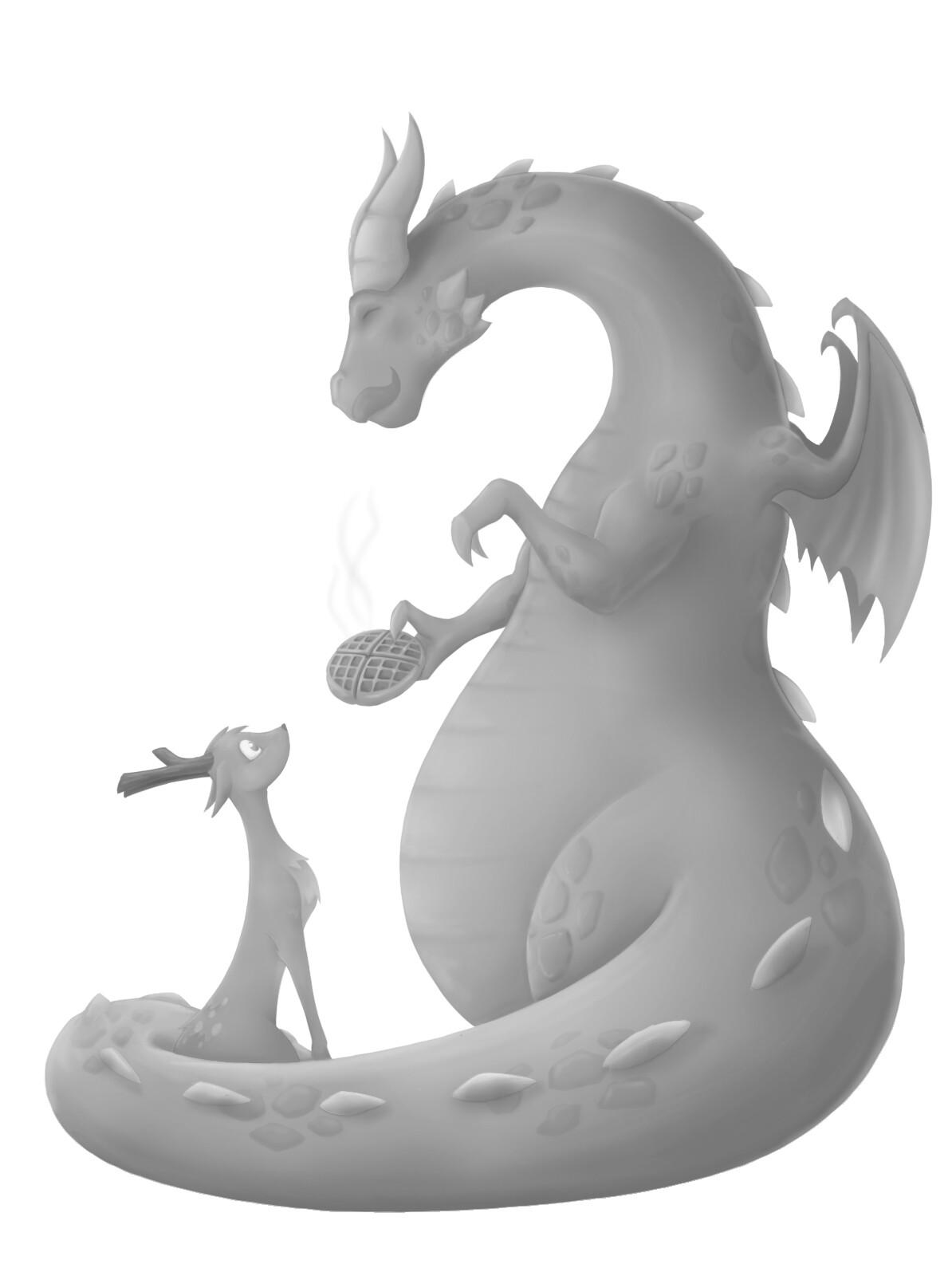 Giovanni sala dragons waffles bw
