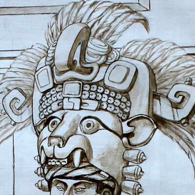 Science meets art zapotec king 001 closeup