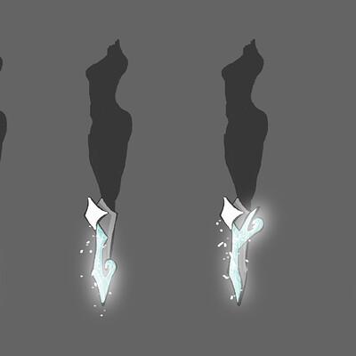 Sophie elisabeth martinez nightingale camille leg blade designs snow effect