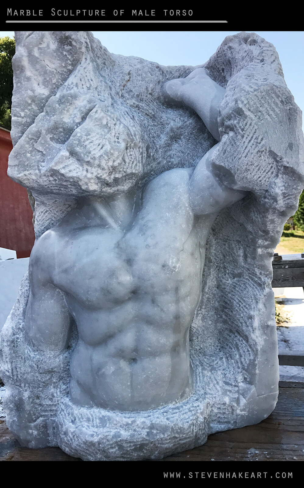 Marble Sculpture of Male Torso