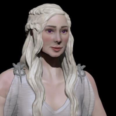 Stylized Daenerys Targaryen