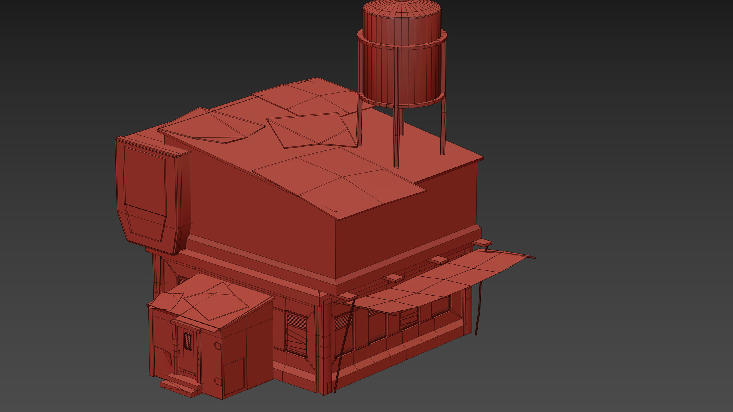 Quick viewport capture of a large chunk of the building.