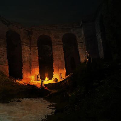 Night Attack at Ruins