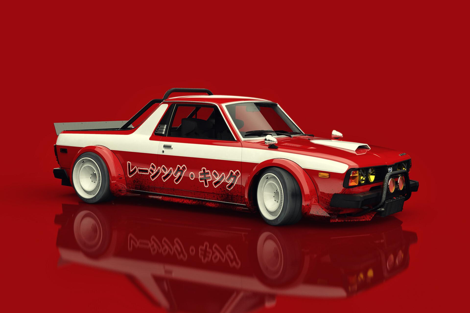 ArtStation - Subaru Brat Racing King, Federico Zimbaldi
