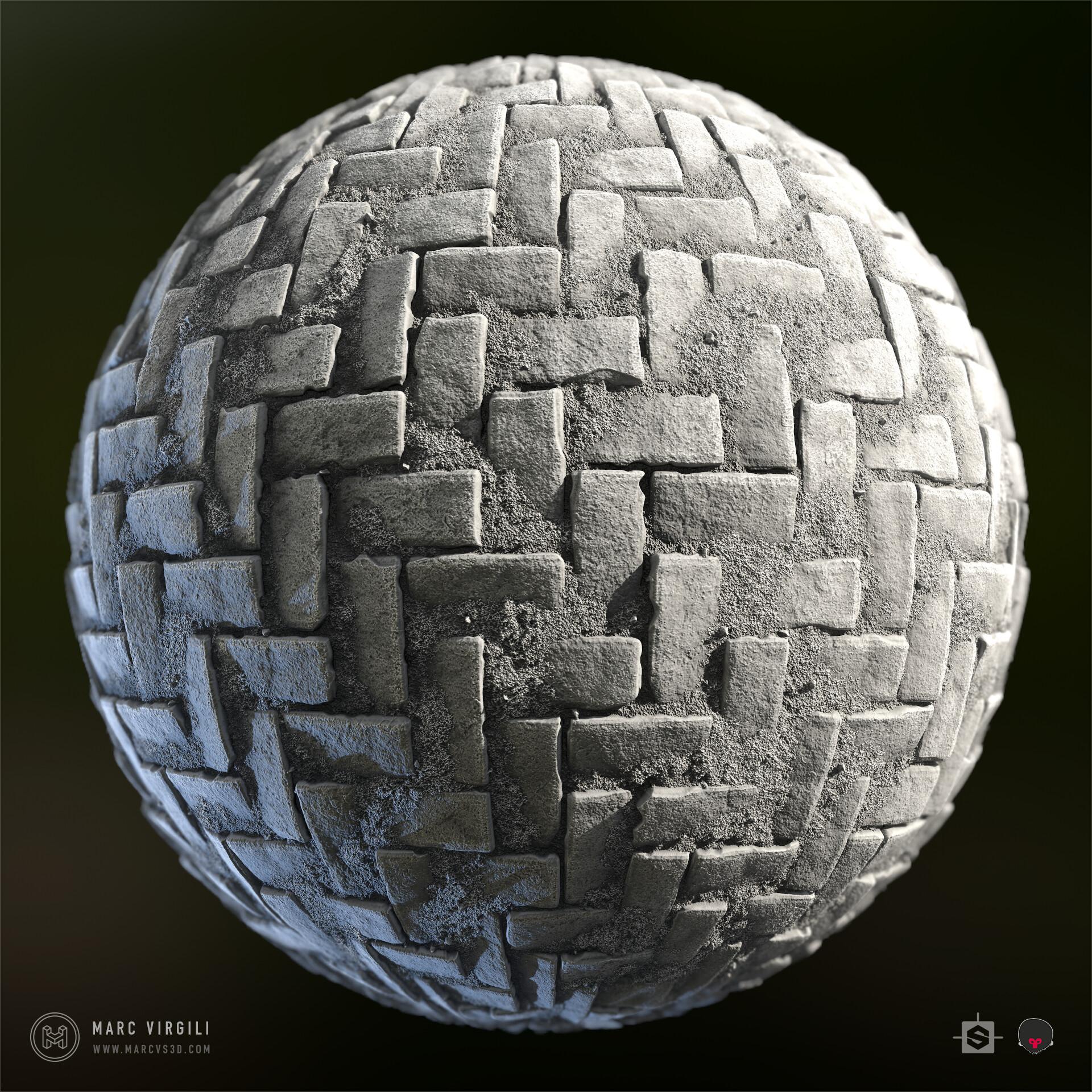 Marc virgili cobblestone sphere lighting