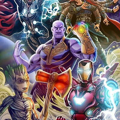 Cleber lima avengers infinity war low