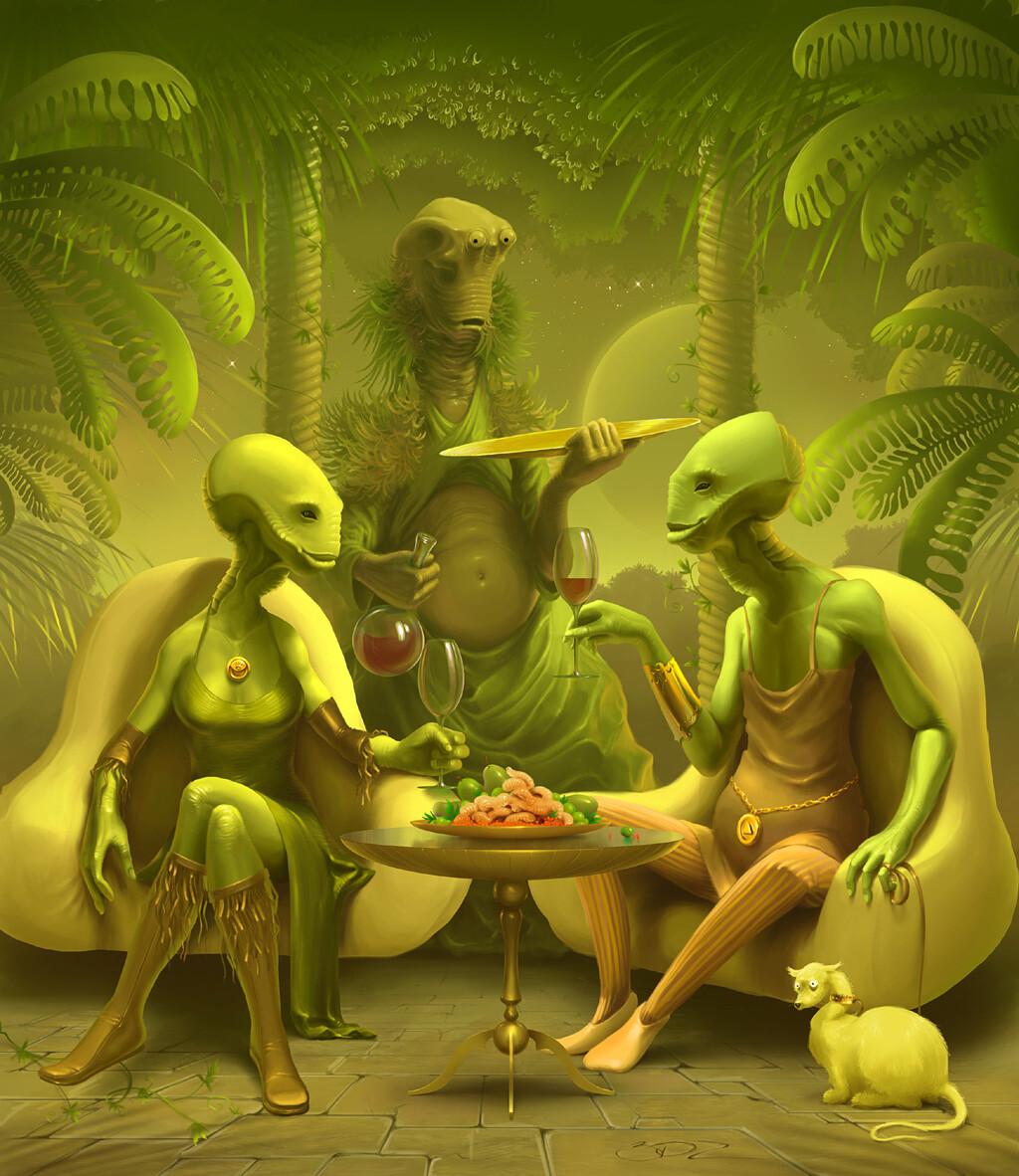 Открытки день, зеленый человечек прикольные картинки