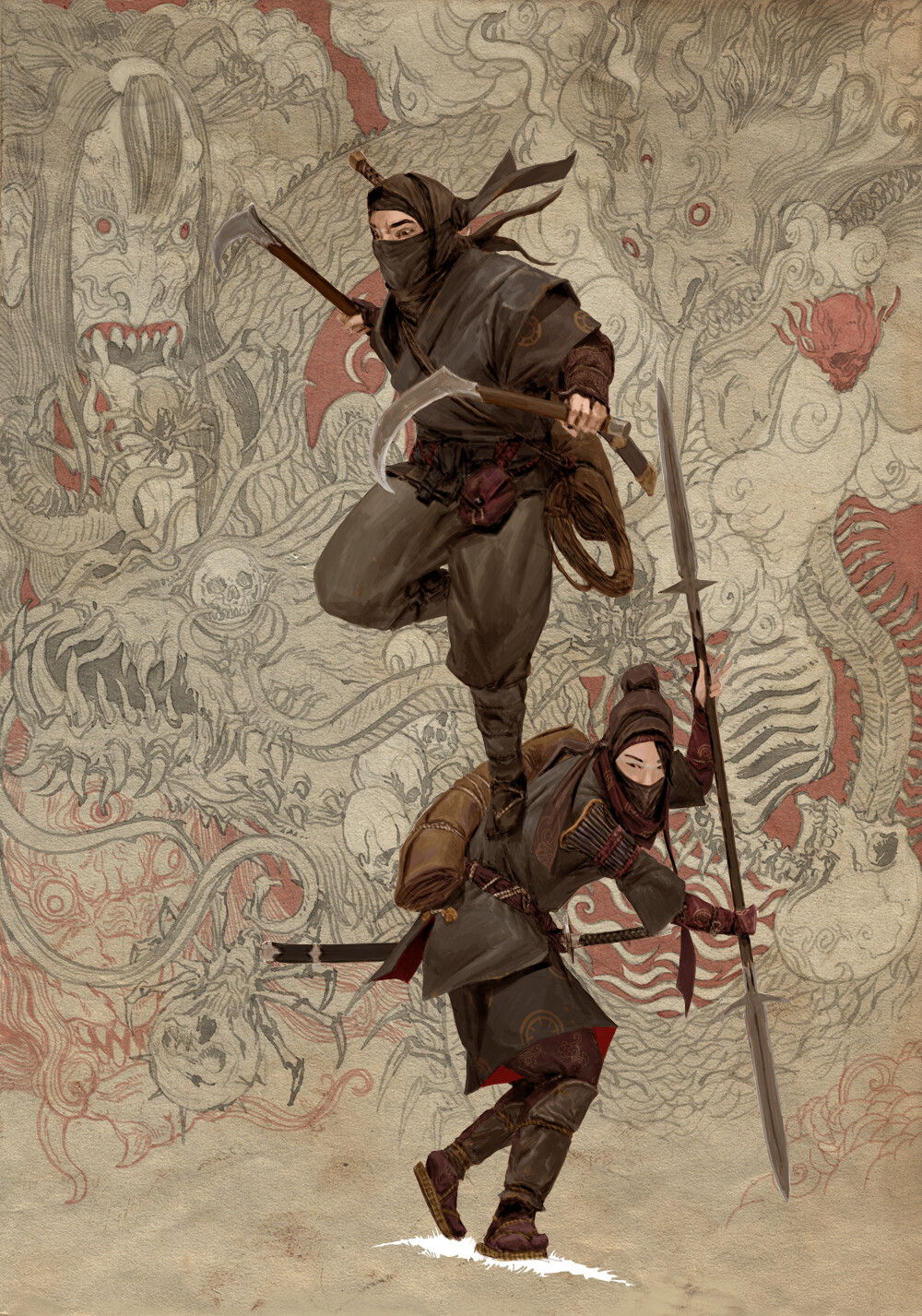 Adrian smith monster demon ninja