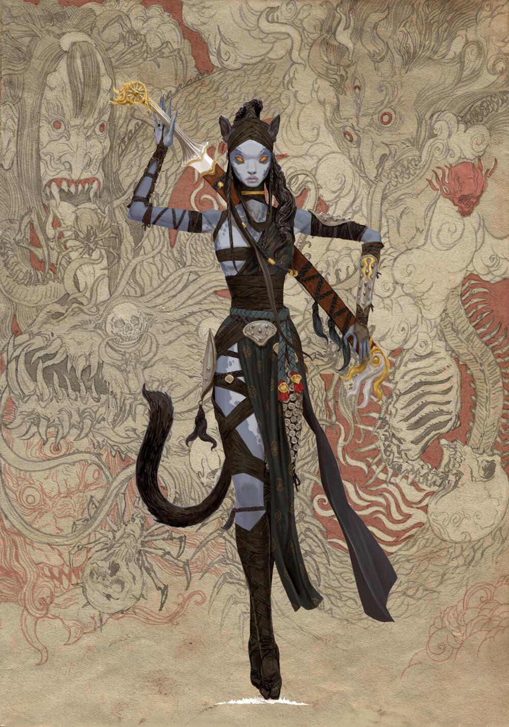 Adrian smith monster demon spirit kani cat