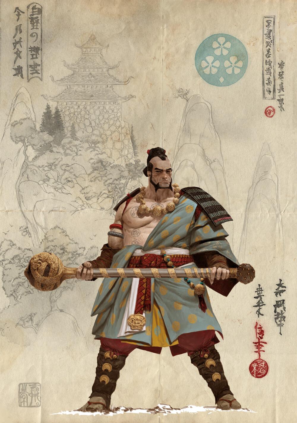 Adrian smith bushi 2 clan2 colour concept