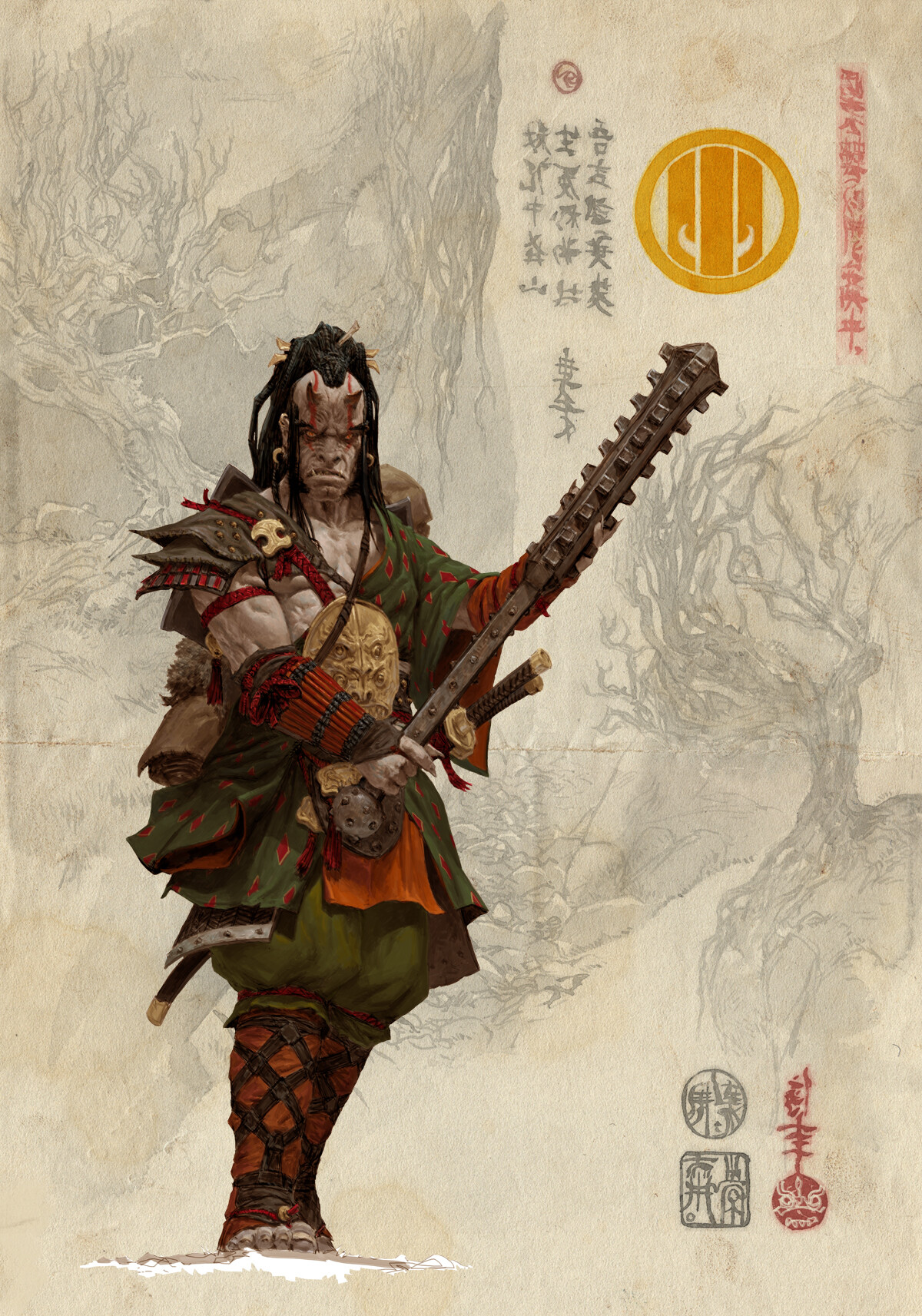 Adrian smith bushi clan6 colour concept