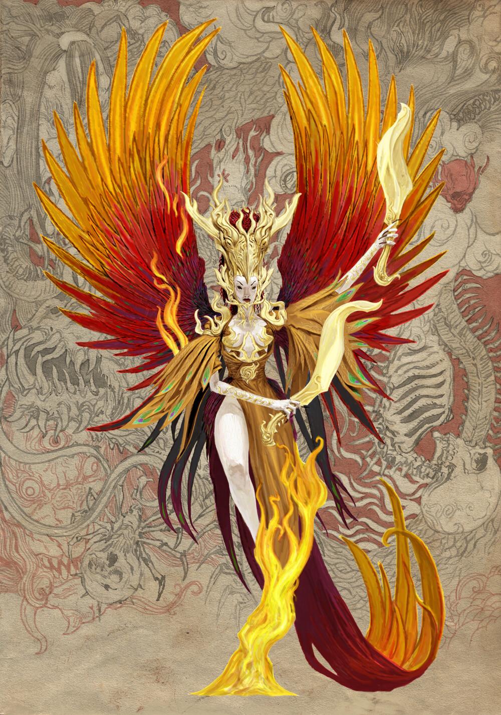 Adrian smith monster demon spirit kami phoenix