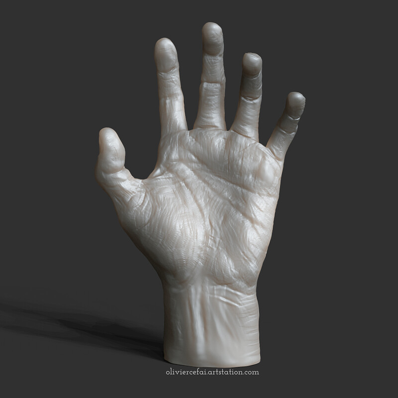 Realistic hand - sculpting from live reference