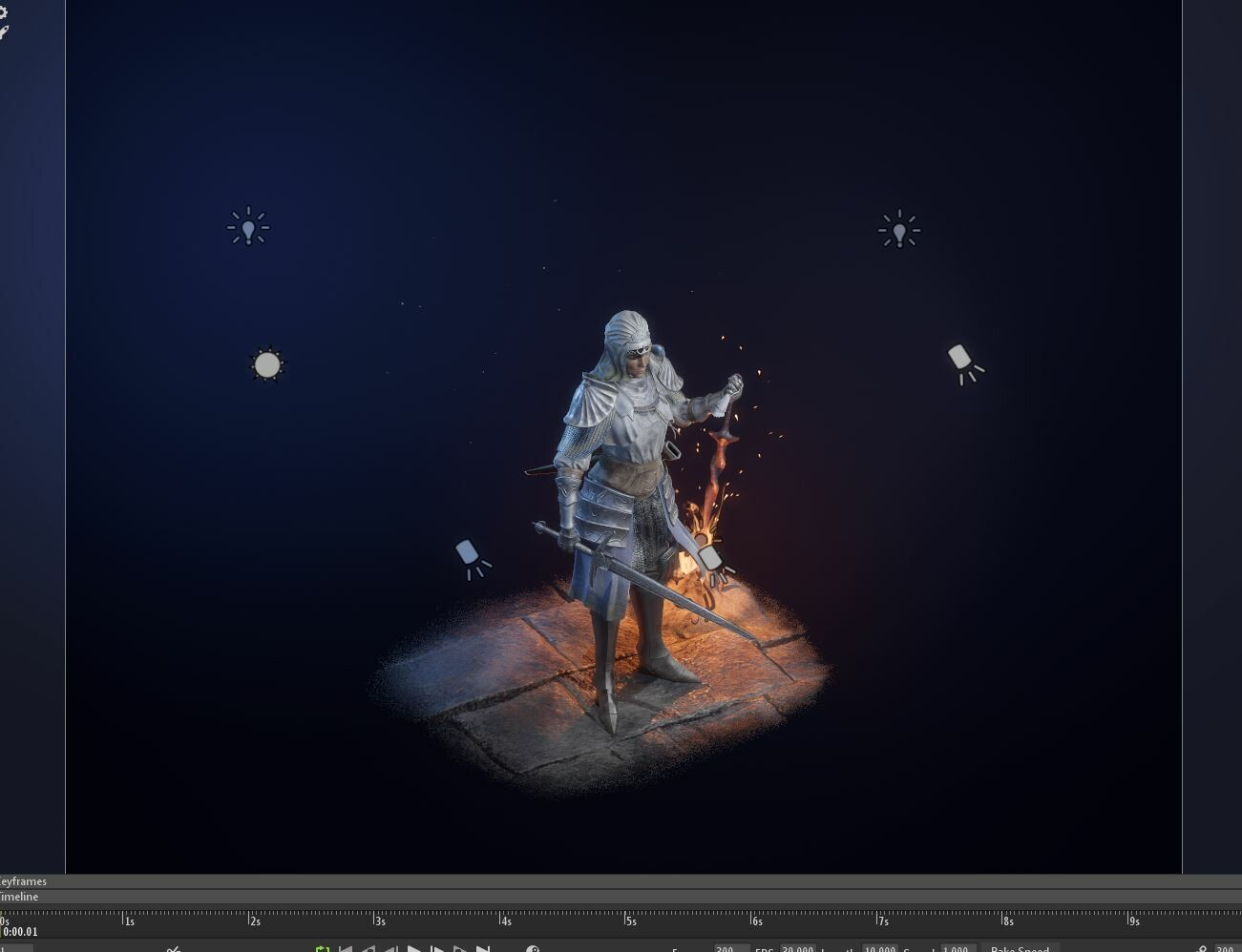 Lighting Setup in Marmoset (with Fog)