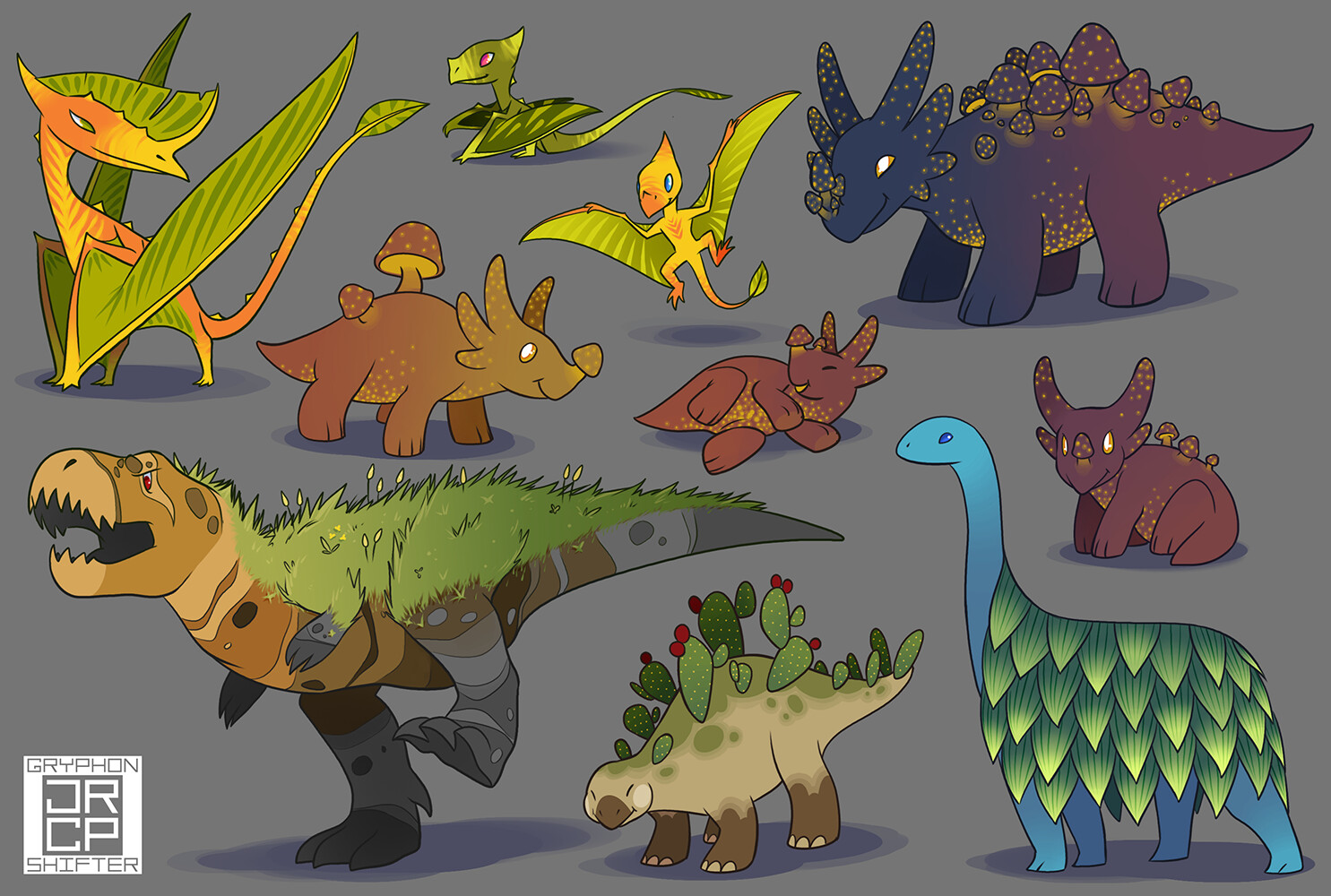 Old art with my plant dinosaurs.