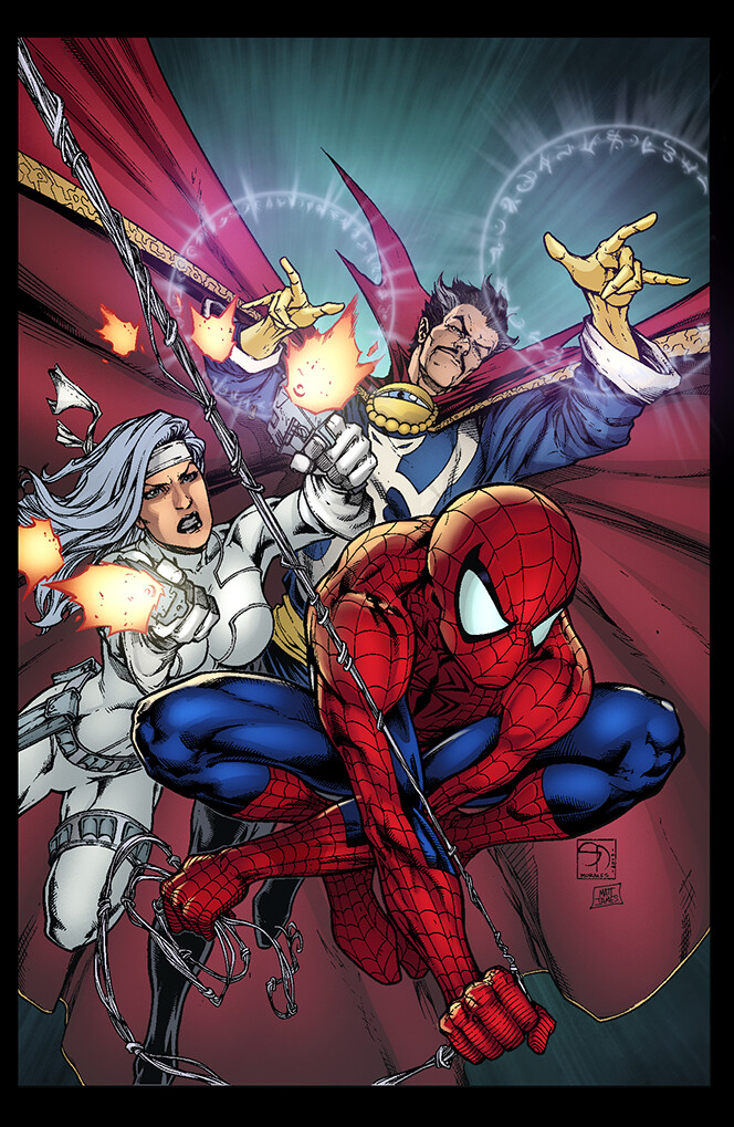 Avenging Spider Man 08 Cover - Sample Colours