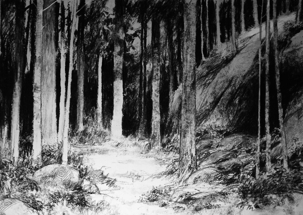 Adrian smith bear scenic low drawing