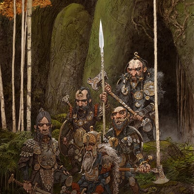 Adrian smith dwarfs illo colour lo