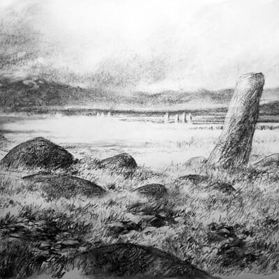 Adrian smith serpent scenic bg drawing lo