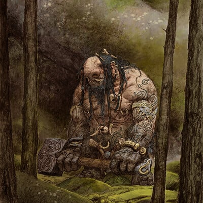 Adrian smith troll illo colour lo