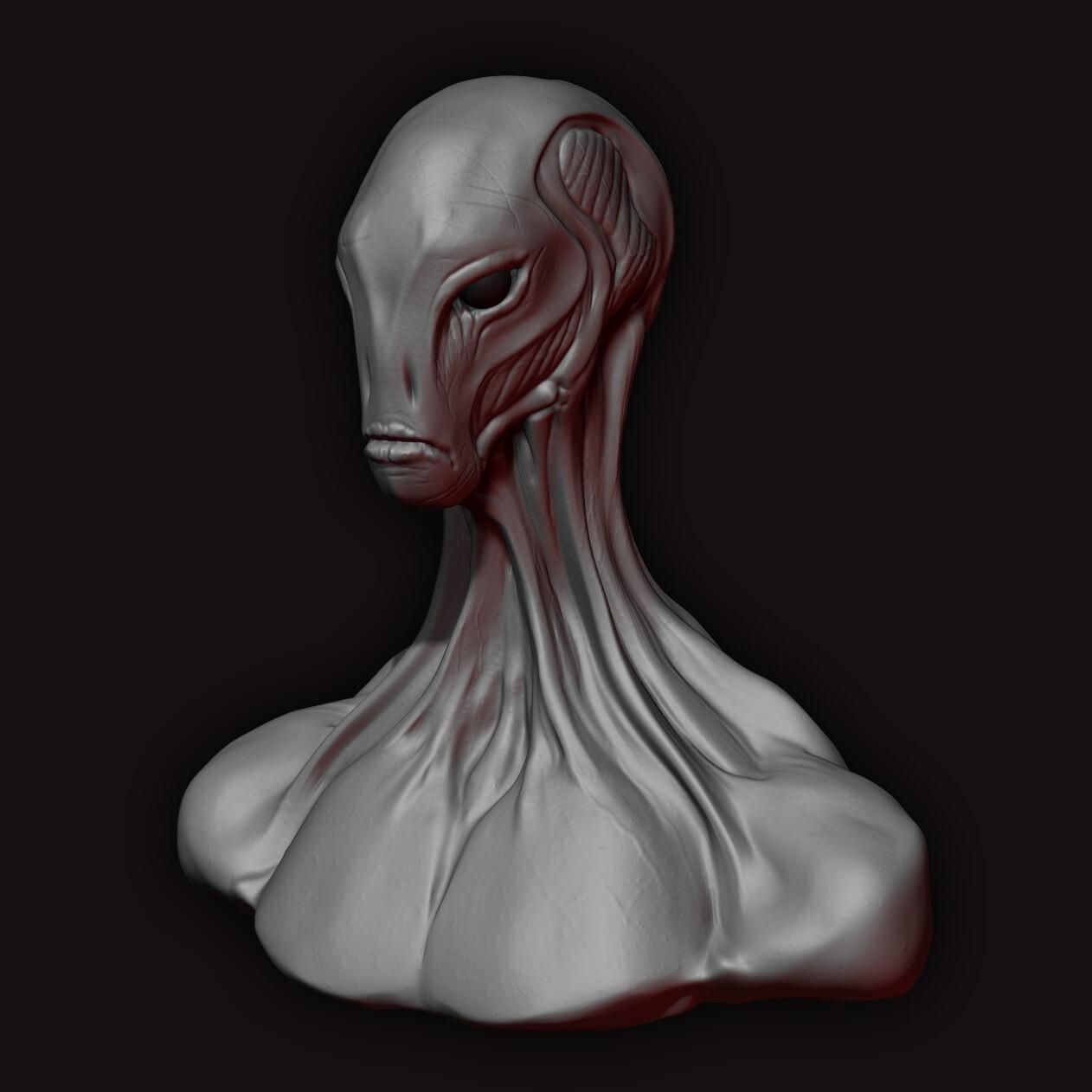 Jon wofford alien bust