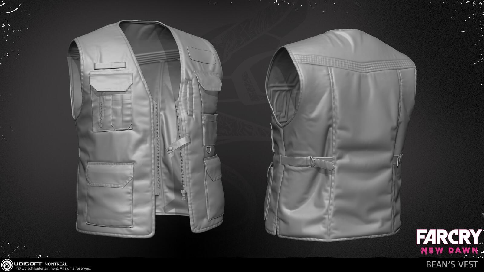 Bean's vest - Marvelous Designer & ZBrush