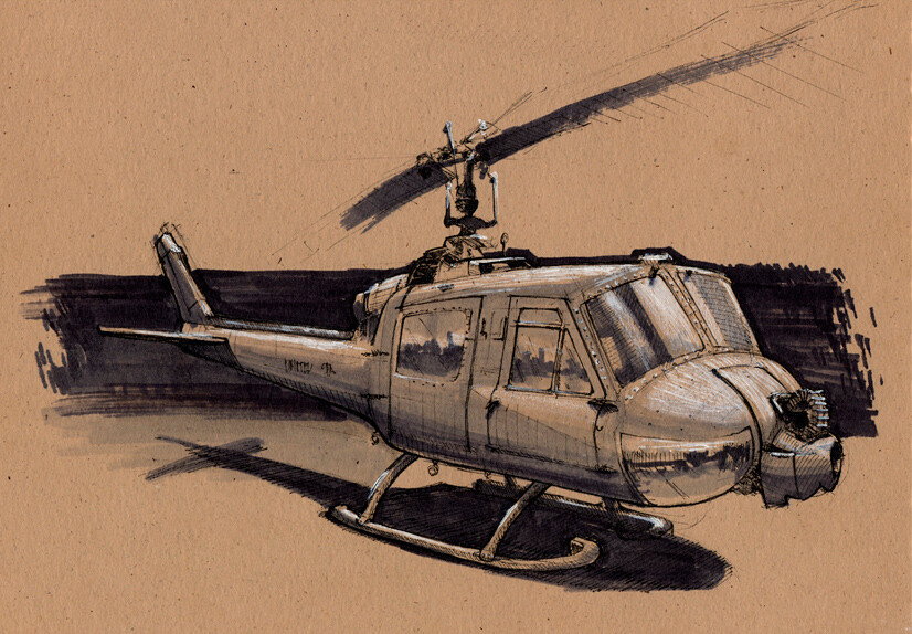 Bell Helicopter | Ink & Markers