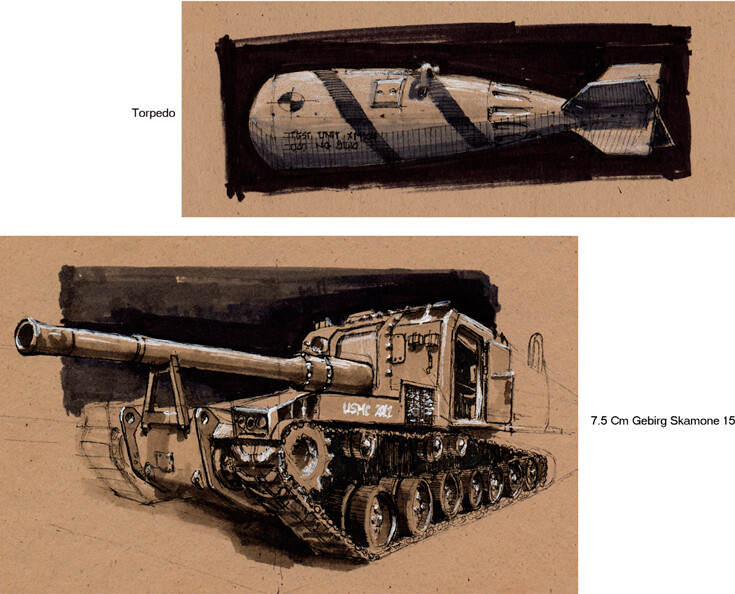 Tank and torpedo | Ink & Markers