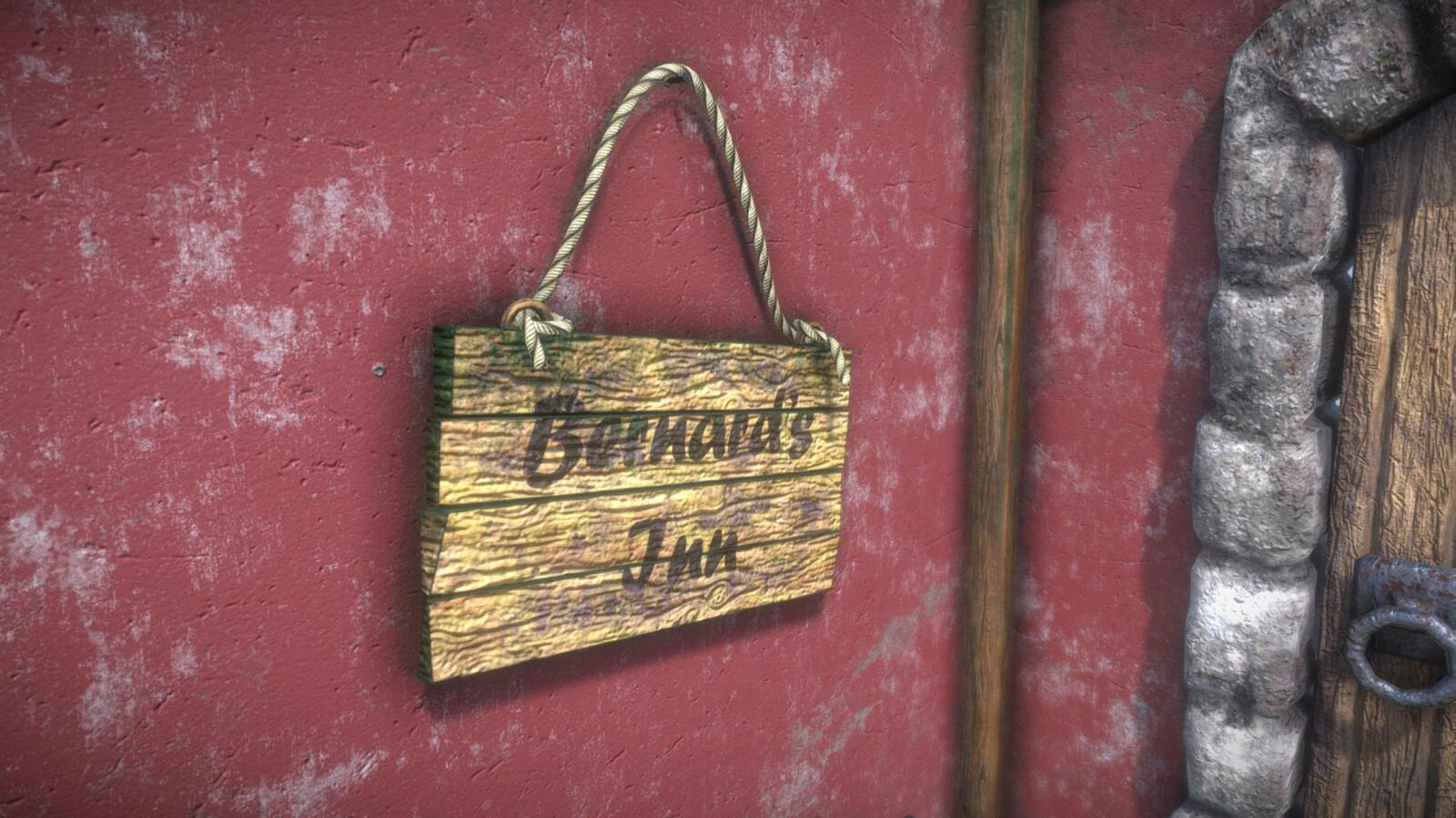 Bernard's Inn Sign (Day).