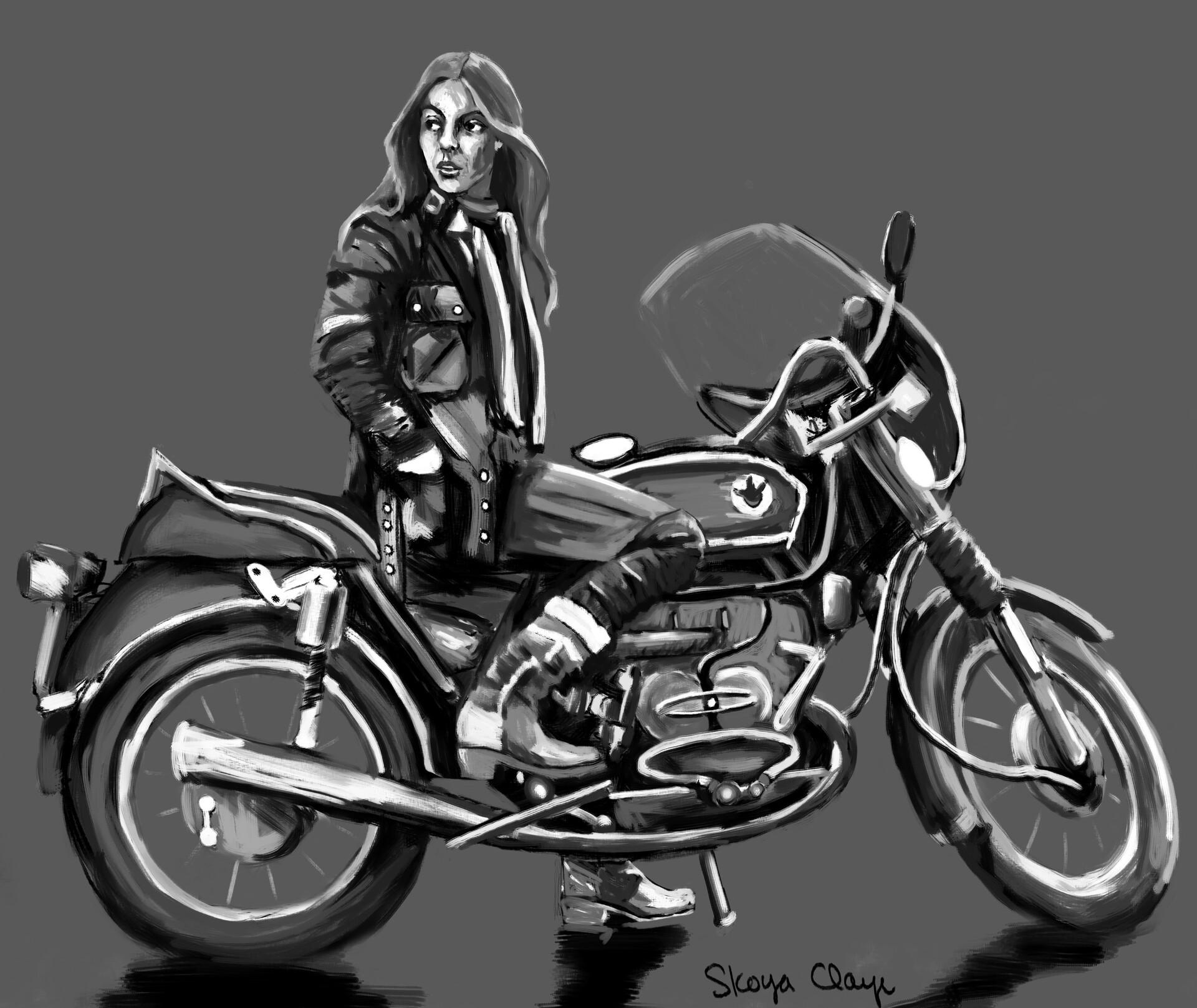 Skoya clayr motorcyclebabe2