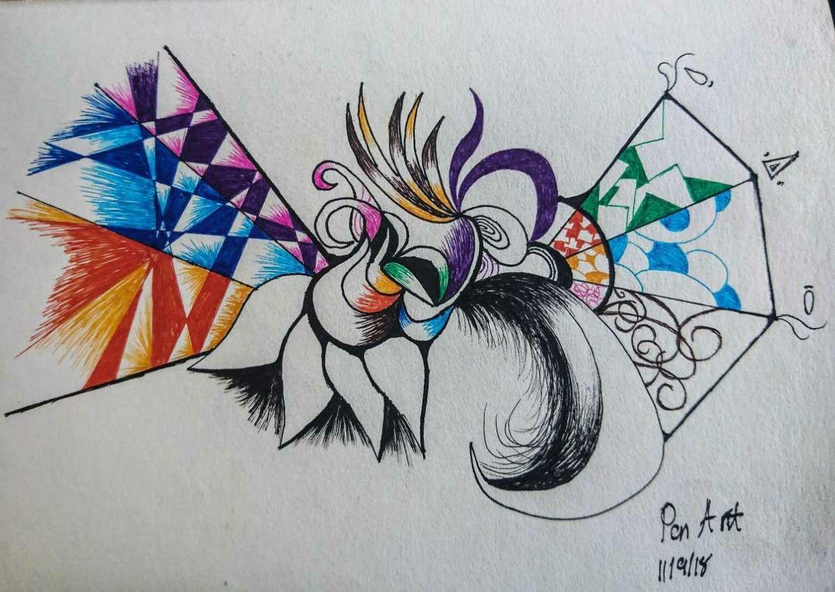 Abstract Pen Art Designs