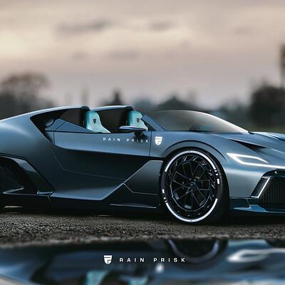 Rain prisk bugatti speedster