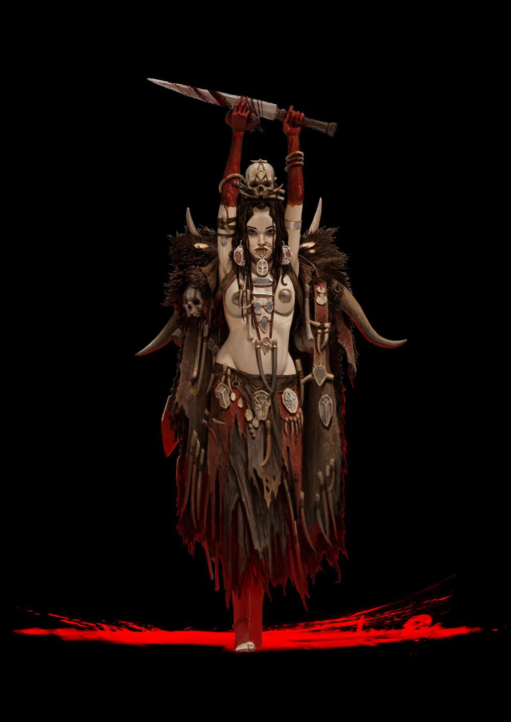 Adrian smith human tribe 1 shaman coloured