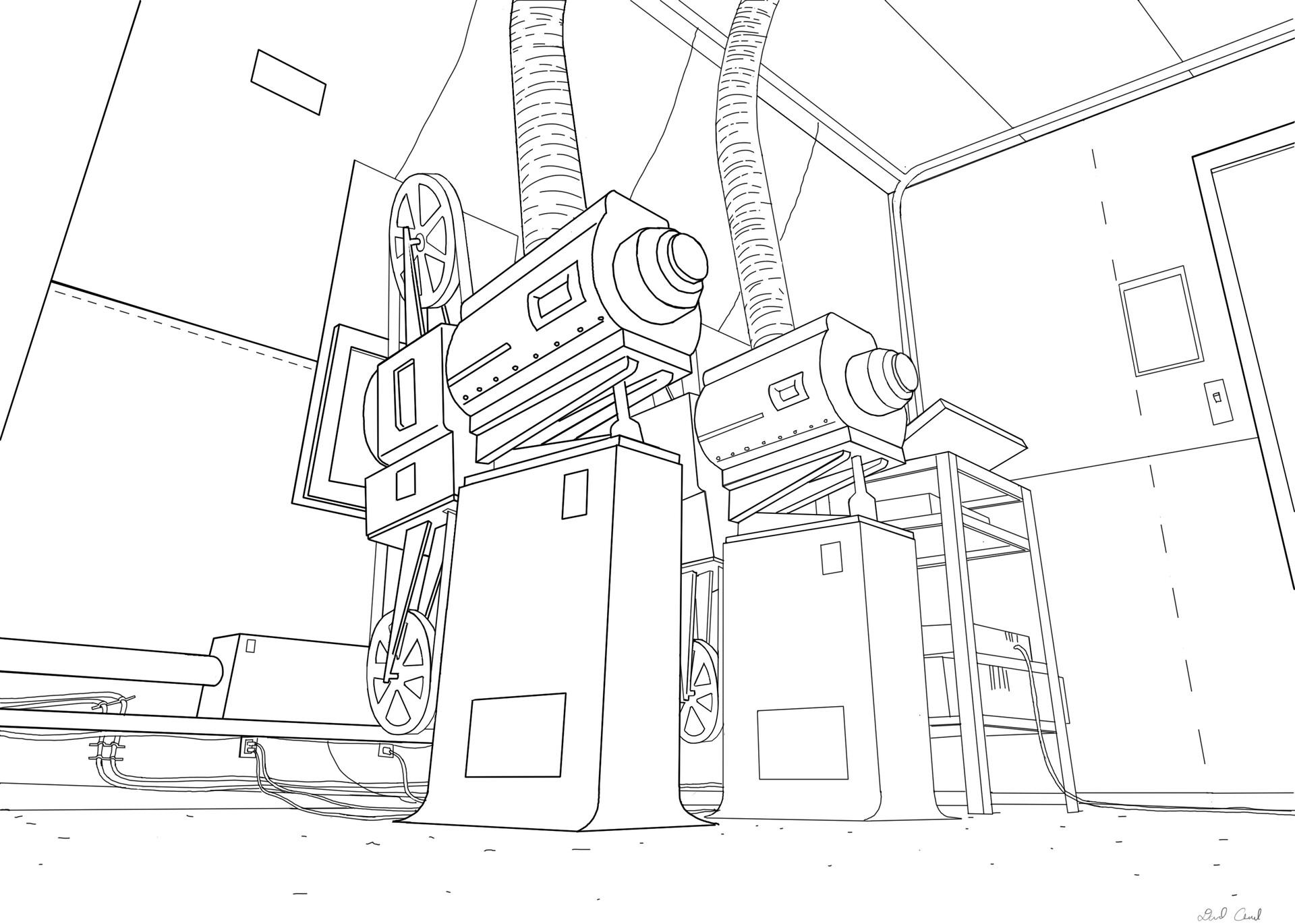 Artstation Movie Theater Projection Room Layouts David Oswald