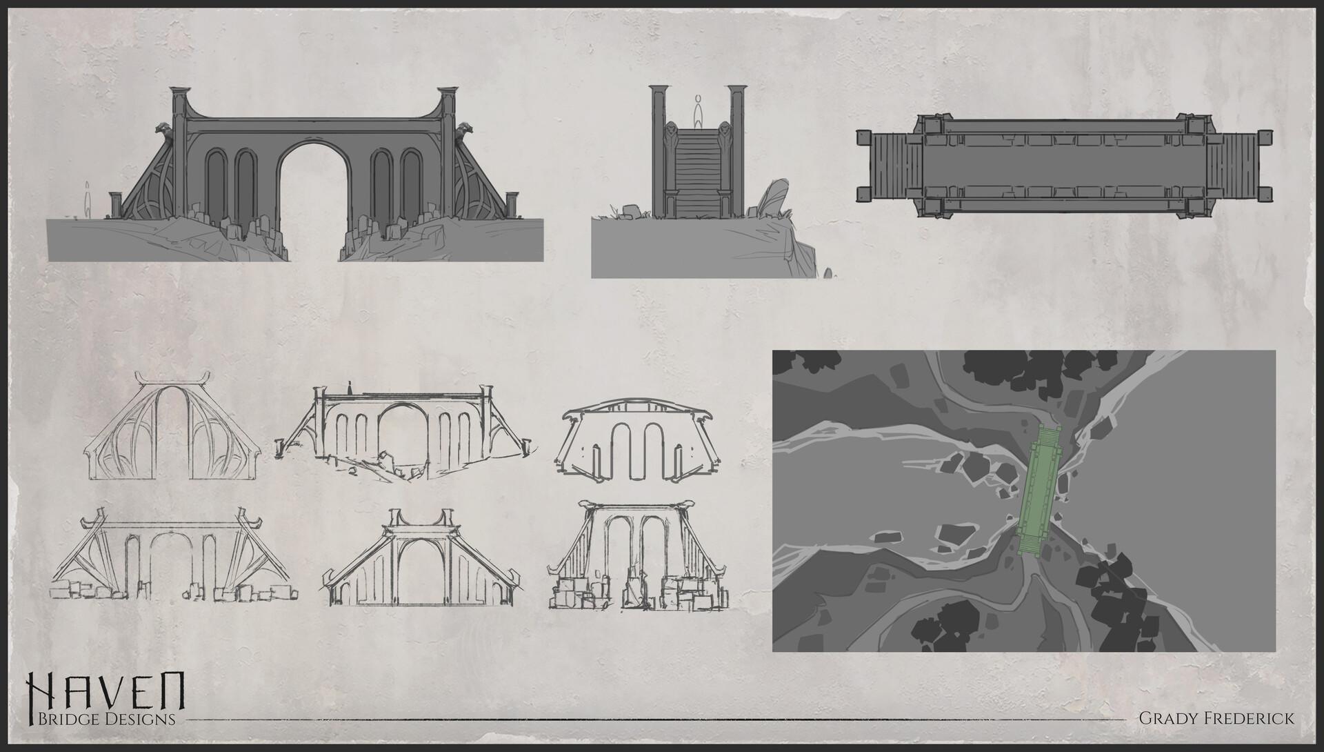 Grady frederick bridge sketches
