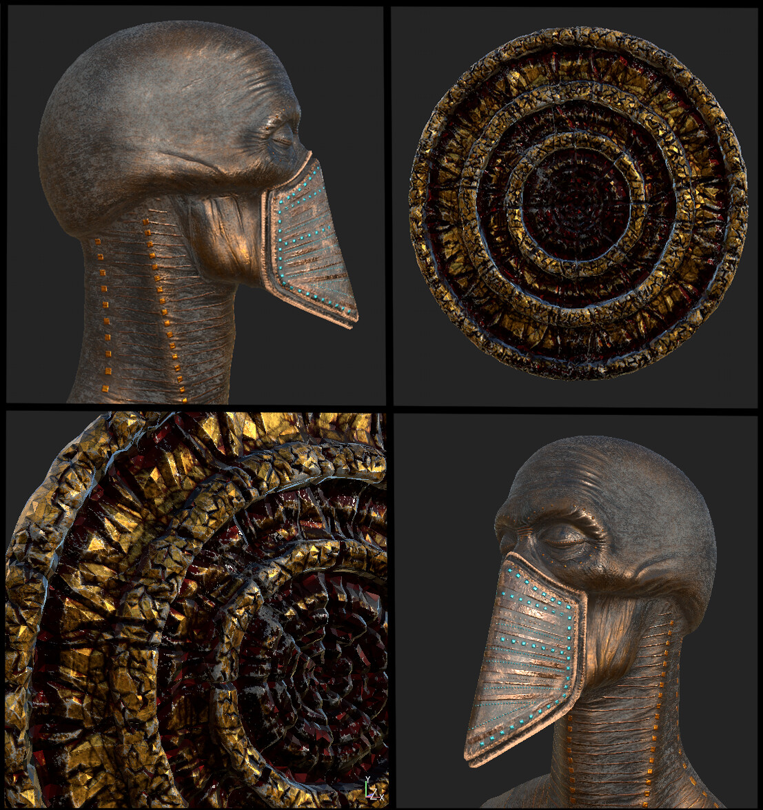 Textured with Substance Painter
