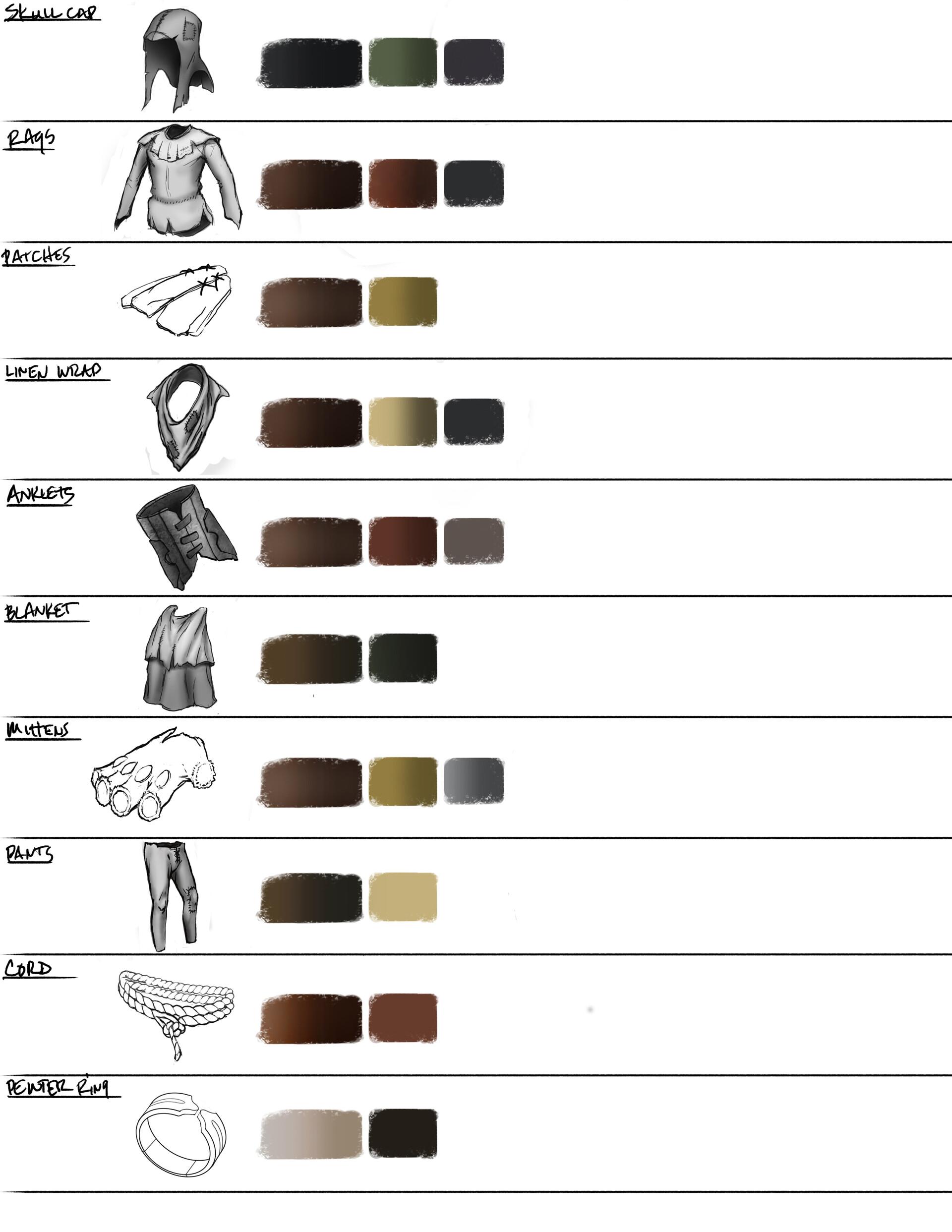 Julian vidales gear icons color palette