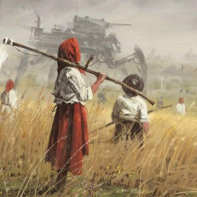 Jakub rozalski saxony harvest01s