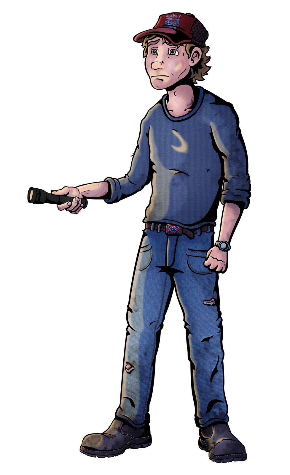 Tracey Hudson. One of the two main characters. The deadbeat brother of Cassie. A High school dropout with a knack for cars, hence his work as a mechanic at Jerry's Gas'N'Garage, Likes to drink his paycheck away with his friends at the local waterhole.