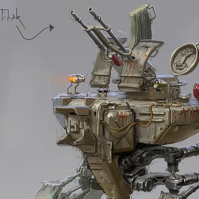 Michal kus mech sketch2 rendered displayresolution