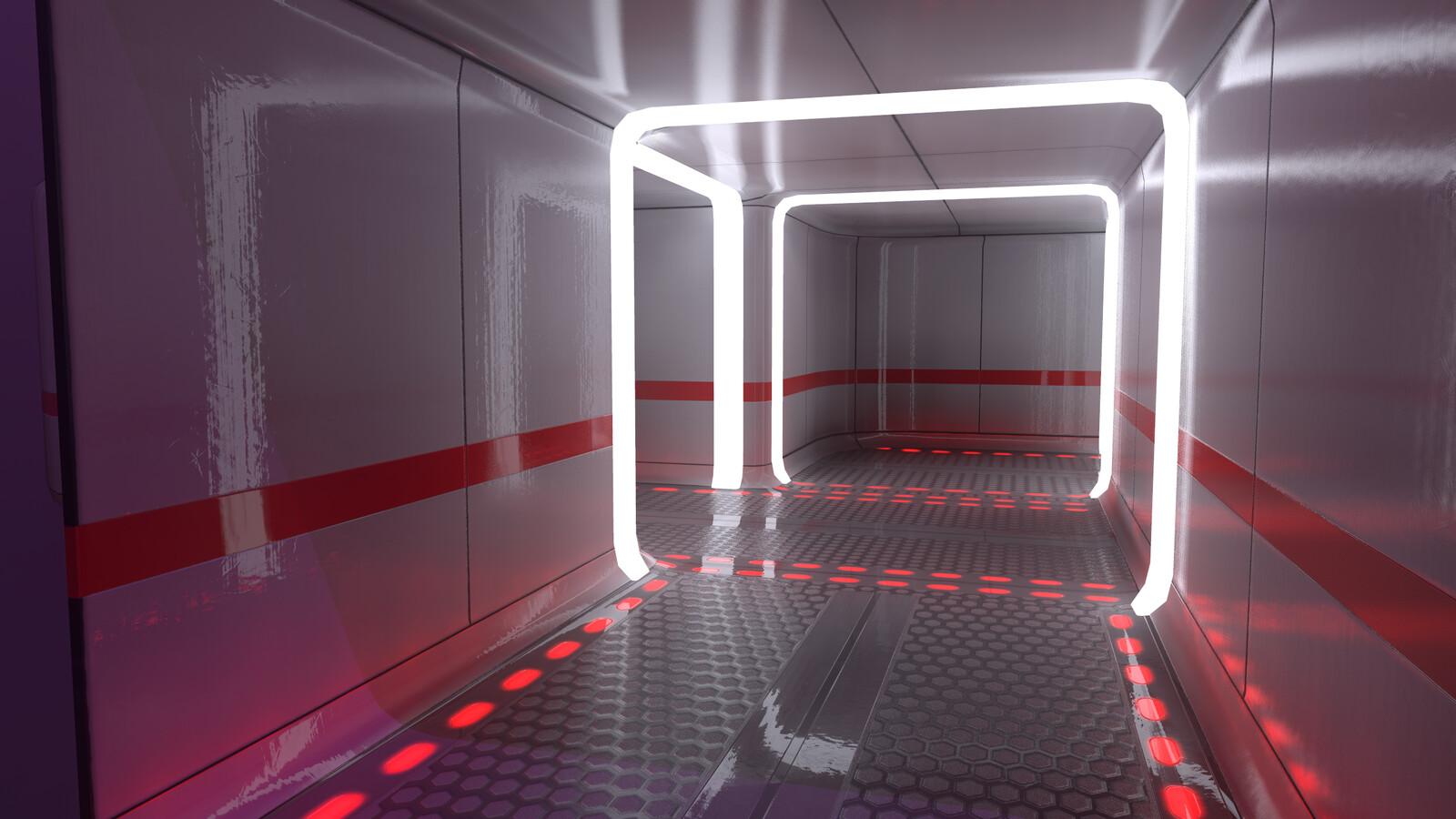 SciFi Hallway WIP