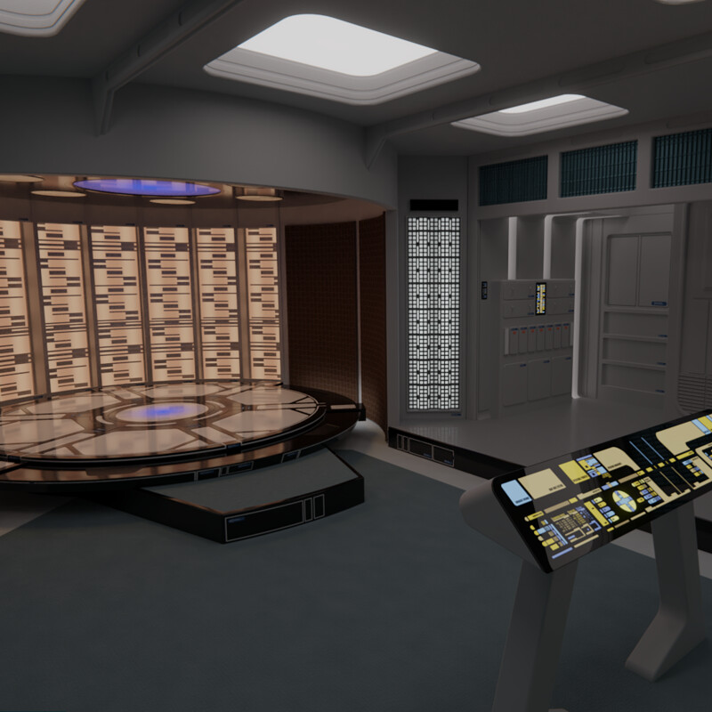 USS Galaxy Transporter Room