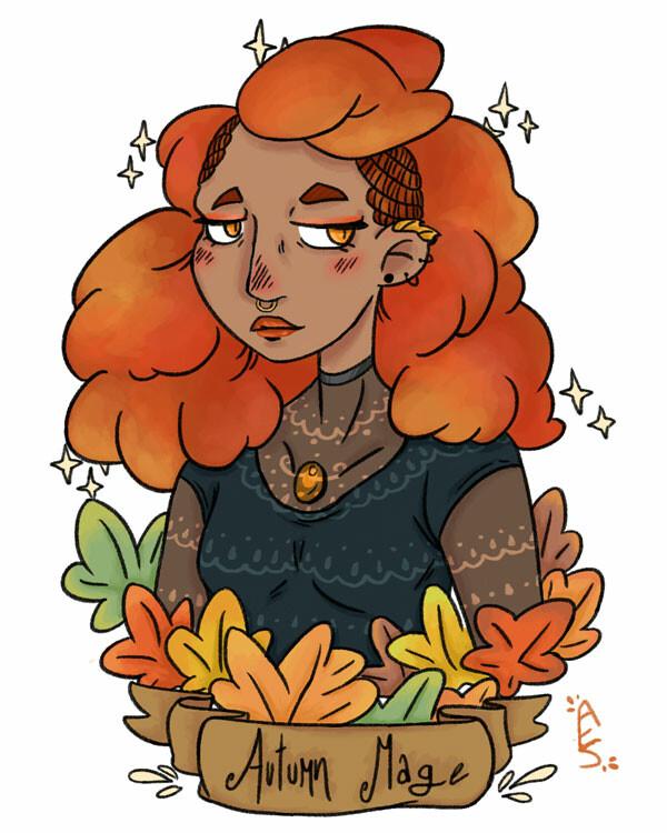 Amy seaman autumn mage illustration webfile