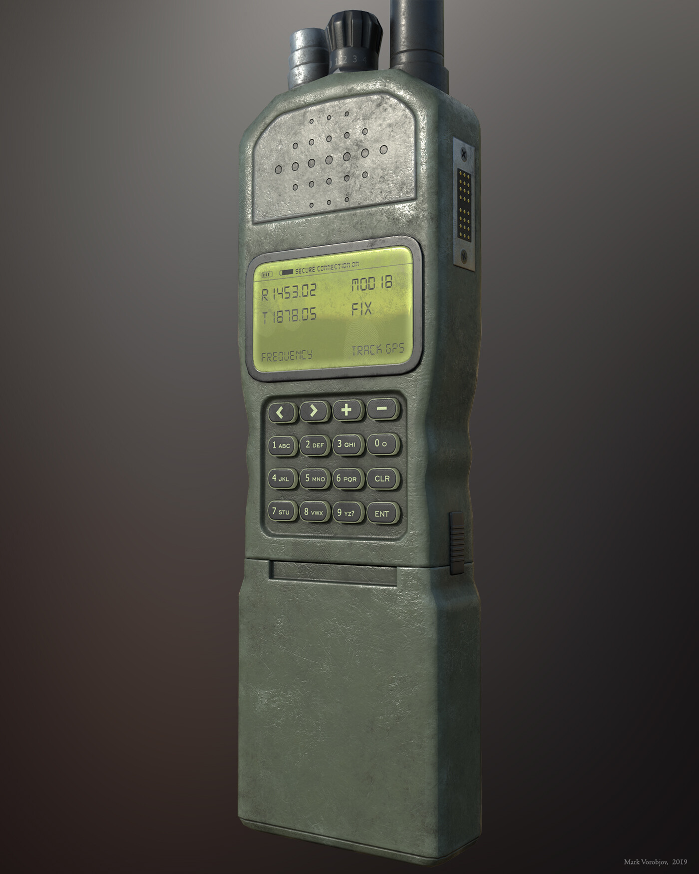 ArtStation - Military handheld radio, Mark Vorobjov